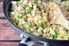 Delicious salty bacon and sweet delicate peas come together in this 20-minute creamy pasta dish!