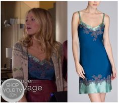 Serena wears a Josie Natori Saran Chemise Celebrity Style Inspiration, Girl Inspiration, Celeb Style, Gossip Girl Season 6, Gossip Girl Fashion, Silk Top, Night Gown, My Style, Girl Style