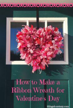Powder Pink And Red Mixed Ribbon Wreath