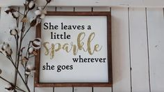 She leaves a little sparkle wherever she by ThriftyTreasures01
