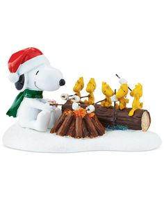 Department 56 Peanuts Village Collection Campfire Buddies Figurine