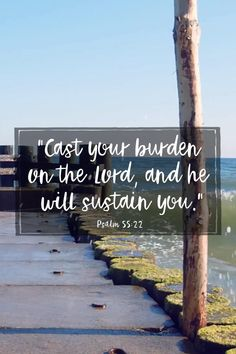 Faith Quotes, Bible Quotes, Cast Your Burdens, Spiritual Religion, Prayer For Anxiety, Catholic Quotes, Scripture Verses, Anxious, Christian Quotes