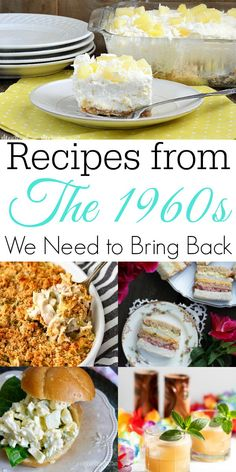 Recipes We Need to Bring Back - Retro Housewife Goes Green Some recipes from the are weird and likely should stay in the past but we have found gotten some really delicious retro recipes! The vintage recipes on this list are ones you need to try. Retro Recipes, Old Recipes, Healthy Recipes, Vintage Recipes, Baking Recipes, 1950s Recipes, Cookie Recipes, Betty Crocker, Appetizer Recipes