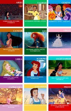 Disney Lady Astrology- funny cuz I got Merida