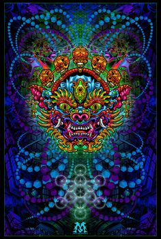 Jamie Macpherson: Psychedelic Visions and Revolution Through Art Psychedelic Drawings, Psychedelic Tapestry, Alex Gray Art, Psychadelic Art, Acid Art, Trippy Wallpaper, Aztec Art, Dragon Pictures, Wow Art