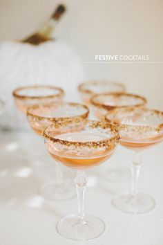 Festive Cider #cocktails   Read more - http://www.stylemepretty.com/2013/10/31/halloween-gone-glam-7-ways-to-celebrate-with-style/