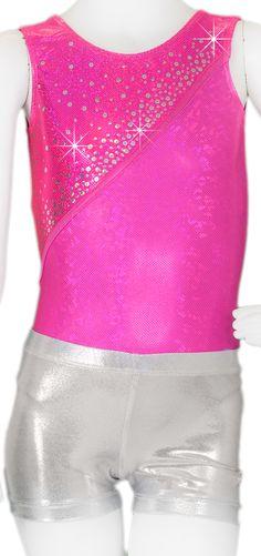 NWT Foiled Full length unitard RED print Swirl Dance Costume Racerback child