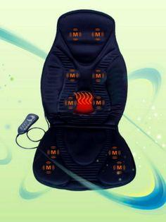 Amazon.com: FIVE STAR FS8812 10-MOTOR MASSAGE SEAT CUSHION WITH HEAT - It's got a car attachment! Instant heated seats!!