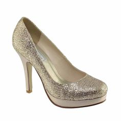 Touch Ups Candice Classic Glitter Platform Pumps High Heel Evening Shoes #TouchUps #PumpsClassics #Formal