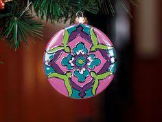Purple & Teal Talavera Style Ceramic Christmas by TheTikiQueen