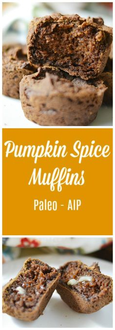 Green Plantain Pumpkin Spice Muffins (AIP/Paleo)-cut muffins in and spread with coconut oil to moisten Paleo Dessert, Keto Desserts, Delicious Desserts, Whole Foods Market, Health Blog, Gut Health, Pumpkin Spice Muffins, No Bake Treats, Snacks