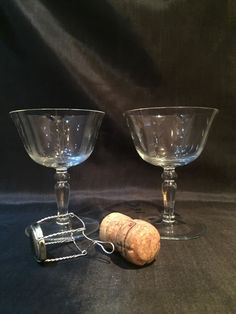 Victorian/Edwardian Two Wheel Etched/cut Glass Champagne Saucers Glass by vintageoldretro on Etsy Wedding Toasting Glasses, Champagne Glasses, Champagne Saucers, Crystal Champagne, Wedding Toasts, Line Design, Victorian, Crystals, Tableware