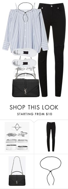 """Untitled #1943"" by sophiasstyle ❤ liked on Polyvore featuring Boohoo, McQ by Alexander McQueen, Yves Saint Laurent, Lanvin and Pierre Hardy"