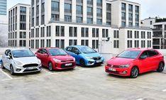 Im Test stehen sich VW Polo, Ford Fiesta, Honda Jazz und Kia Rio gegenüber. So schlagen sich die Modelle aus dem Kleinwagen-Segment. Ein Vergleich. Honda Jazz, Kia Rio, Car, Autos, Small Cars, Automobile, Cars