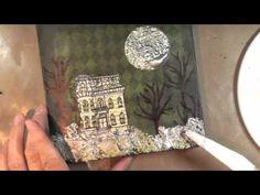 Video tutorial-Halloween mixed media art.