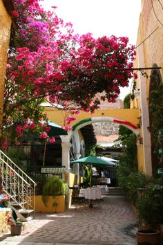 One of many courtyards you'll discover as you explore San Miguel de Allende #Mexico