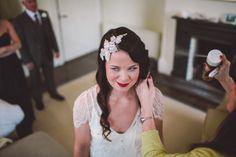 "Bridal hair piece, bridal hair jewels, ""Eden"" Wedding Gown by Jenny Peckham"