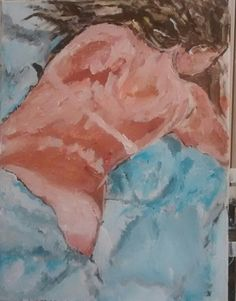 Tan lines- summer nap  Acrylic painting by patty margalotti 6/15