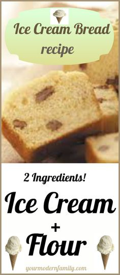 2 Ingredients!!!  Ice Cream &  Self-Rising Flour... Bake it and you have...   ICE CREAM BREAD!  It's true! my friend @no way Scrivener made some in chocolate and it was definitely bread not cake. Need to try some other flavors