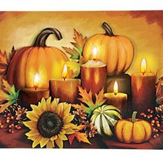 Fall wall art is a great way to elevate the look of your  home. Whether it be colorful fall leaves, cute orange pumpkins or beautiful  cornucopias. You can effortlessly make  your home fall worthy by using several pieces of #autumn wall décor throughout  your home. Do this with fall wall art,  fall wall wreathes, fall wall clocks and even fall canvas art to create a warm  and inviting #fall paradise.      LED Autumn Harvest Canvas Wall Art