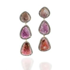Pink Sapphire Slice Earrings by Madyha Farooqui at roseark.com http://www.roseark.com/viewProduct.php?product_id=1056=76=S