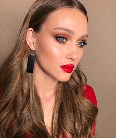 Cute Makeup Looks, Creative Makeup Looks, Natural Makeup Looks, Skin Makeup, Beauty Makeup, Hair Beauty, Medium Hair Cuts, Medium Hair Styles, Makeup Masters
