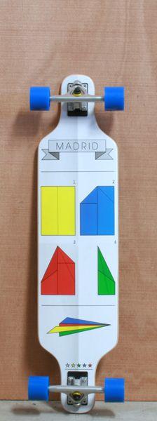 "Skateboard Awesome! MADRID 39"" FOLDED LONGBOARD"