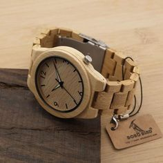 Natural All Bamboo Wood Watch - InValuableHours