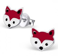 Fox Earrings In Sterling Silver - earrings