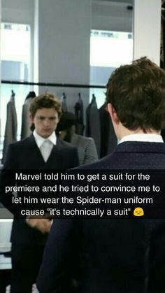 This is pure evidence that Tom Holland isn't PLAYING Peter Parker, he IS PETER PARKER. The post This is pure evidence that Tom Holland i… appeared first on Marvel Memes. Funny Marvel Memes, Marvel Jokes, Dc Memes, Marvel Avengers, Funny Memes, Spiderman Marvel, Hilarious, Shane Mendes, Tom Holland Peter Parker