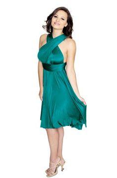 Sakura Short Convertible Dress Turquoise Teal - Short Dress - Convertible Dresses - Shop