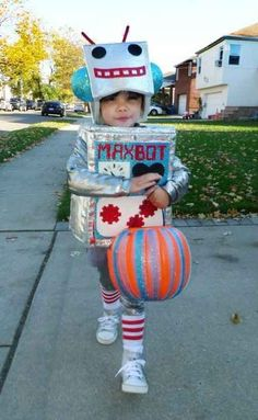 A Robot | 30 Best DIY Kids Halloween Costumes Your Mom Never Made For You