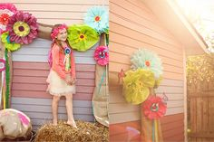 LOVE this photo backdrop for a little girl's party.