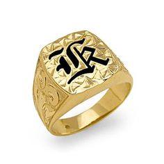 Hawaiian+Heirloom+Initial+Ring+in+14K+Yellow+Gold