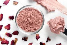 Homemade pink clay mask