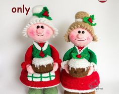 Missis Santa Claus amigurumi crochet pattern pdf tutorial toy