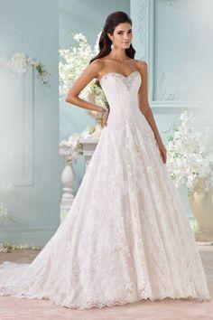 Featured Dress: David Tutera for Mon Cheri | LENE; Wedding dress idea.