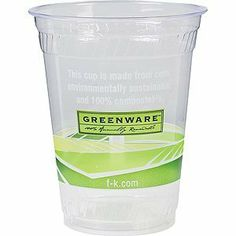 Fabri-Kal Greenware Eco Friendly Compostable Cold Cup 20oz 1000ct . $148.87. The Fabri-Kal Greenware line is made from NatureWorks biopolymer, a polylactic acid (PLA) resin derived entirely from plants instead of oil. All Greenware products are created from domestically grown renewable resources and are manufactured in the U.S.A. Crystal clear Greenware cold drink cups offer complete product visibility to highlight any food or beverage. Certified to be compostab...