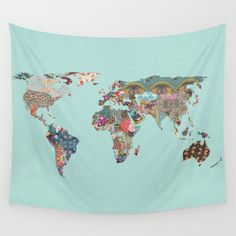 Louis Armstrong Told Us So (teal) Wall Tapestry by Bianca Green