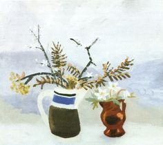 "Winifred Nicholson (1893-1981), ""Blackthorn and Yew"", 1950"