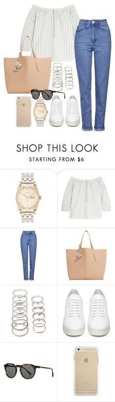 """Untitled #686"" by ashleyxx67 ❤ liked on Polyvore featuring Nixon, Madewell, Topshop, MANGO, Forever 21, Off-White and Raen Optics"