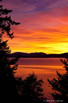 Sunset Over Bellingham Bay, Washington; photo by Janice M. LeCocq