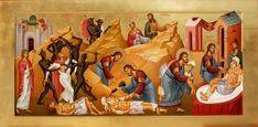 "dramoor: ""Christ as the Good Samaritan, Russian Contemporary "" Miracles Of Jesus Christ, Life Of Christ, Byzantine Icons, Byzantine Art, Religious Images, Religious Art, Religious Education, Day Of Pentecost, Good Samaritan"