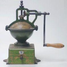 Vintage counter coffee grinder