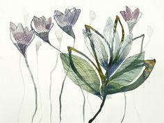 violets original watercolor by ValeriaKondor on Etsy