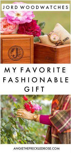 Autumn Roses, Fall Accessories & $100 Giveaway | I've recently fallen in love with JORD's fabulous collection of wood watches in different styles and colors to choose from. | angiethefreckledrose.com