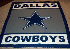 Dallas Cowboys Hand Crochet Afghan/Blanket/Throw by AfghanArt