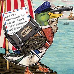 TMOD duck postcard
