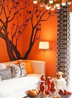 tree on wall.