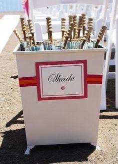Umbrellas for beach wedding gifts - Omaggi ospiti matrimonio in spiaggia